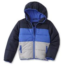simply styled boy s puffer coat colorblock