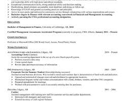 certified management accountant resume examples of entry level
