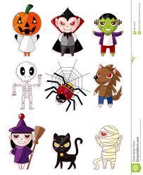 Happy Halloween Icons Cartoon Halloween Monster Icons Stock Photo Image 20879550