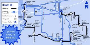 Amtrak Service Map by 68 Intercity Transit