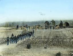 civil war color heroic scenes brought army