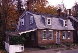 Gambrel Roof Garages by Colonial Home With Gambrel Roof This Has A Carport Which Might