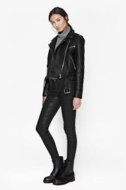 biker coat generation faux leather biker jacket collections french connection