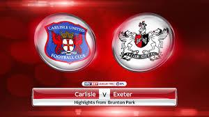 lexus exeter uk carlisle 3 3 exeter match report u0026 highlights