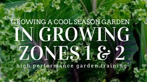 Garden Growing Zones - growing zones one and two cool season garden