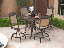Chair King Outdoor Furniture - cordoba sling 5 pc aluminum swivel bar set chair king