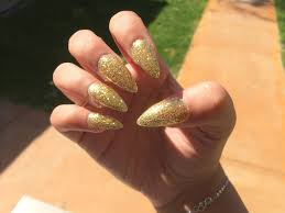 gold glitter nails tutorial youtube