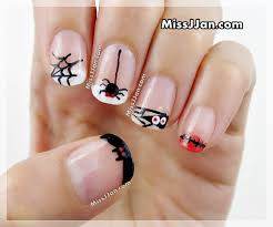 halloween nail art 5 cute and easy designs french manicure