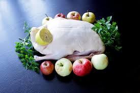 cuisiner cru canard cru de canard prêt à cuisiner avec des légumes et des pommes