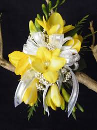 Chapel Hill Florist Yellow Freesia Wrist Corsage By Floral Expressions Of Chapel Hill