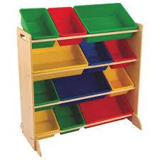 Kidcraft Bookcase Kidkraft Primary Storage Bin Unit Natural Toy Chests U0026 Boxes