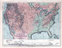 United States Geography Map by Teaching Geography In 19th Century America