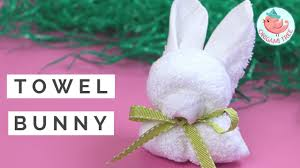 easter crafts how to fold a towel bunny rabbit animal towel