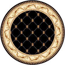 Black Circle Rug Amazon Com Kas Oriental Rugs Corinthian Collection Fleur De Lis