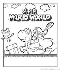 super mario color pages kids coloring