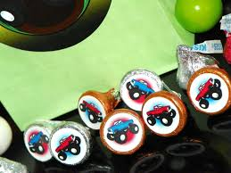 monster truck party hershey kisses stickers monster truck