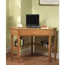 Corner Desk Ideas Simple Living Bamboo Corner Desk Free Shipping Today Overstock