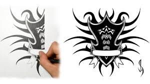 tribal shield tattoo how i draw a tribal family shield tattoo