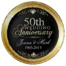 50th anniversary plates custom wedding anniversary porcelain plates