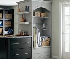 dark grey laundry cabinets schrock cabinetry