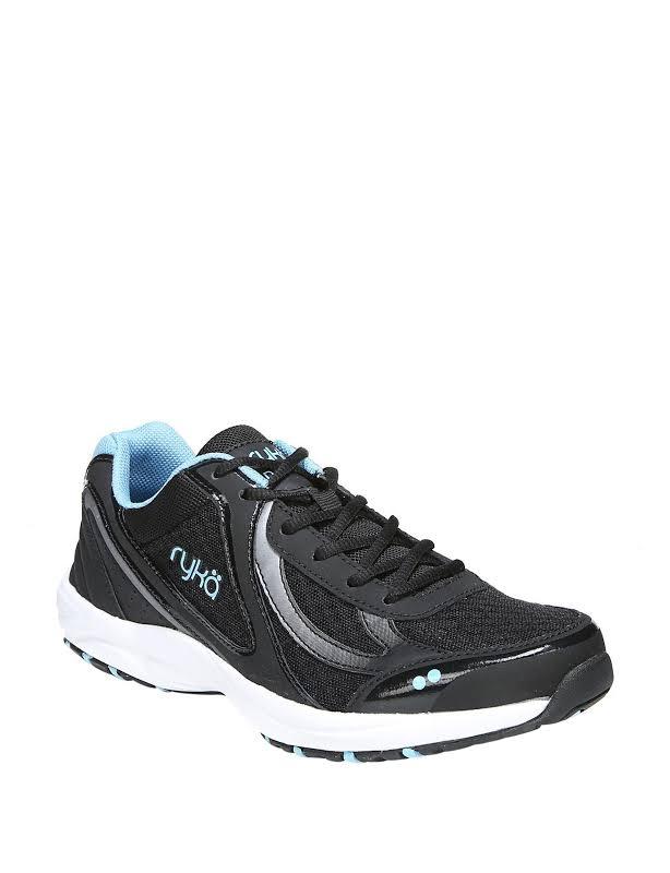 Ryka Dash 3 Walking Shoes, Wide Black, 7.5