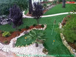Artificial Backyard Putting Green by Faux Grass Anaheim California Backyard Putting Green Backyard