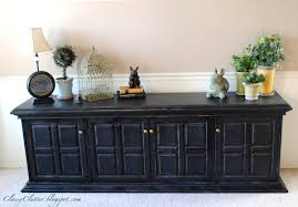 Pottery Barn Similar Furniture Classic Black Console Makeover Classy Clutter