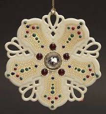 snowflake ornament by lenox snowflake
