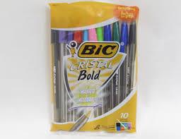 bic cristal bold colors 1 6mm ballpoint pens