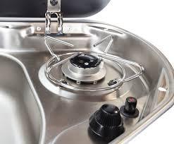 smev mo8821lus 1 burner rv marine propane cooktop w sink