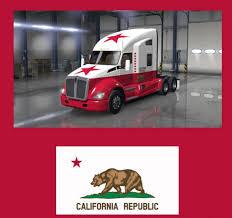 kenworth california california republic skin for kenworth t680 mod american truck