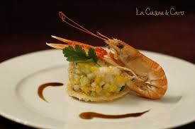 cuisiner les langoustines recette de tartare de langoustines mangue et papaye vertes la