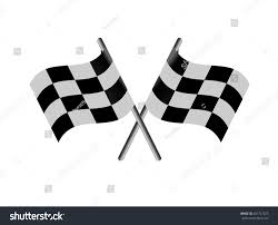 Checkered Racing Flags Race Flag Crossed Checkered Flag Black Stock Vector 401727025