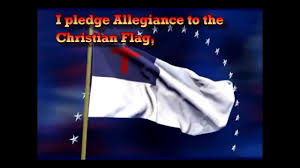 Flag With Bible Pledge To The Christian Flag Youtube