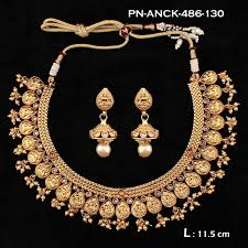 necklace pearl designs images Jhumar design laxmi motif with pearl designer necklace set ds29 1 jpg