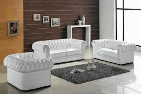 Chesterfield Sofa Outlet Divani Casa Paris Transitional Tufted Leather Sofa Set Vig
