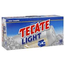 tecate light alcohol content tecate light beer 18pk 12oz cans target