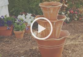 How To Make Patio How To Make A Terra Cotta Pot Fountain At The Home Depot