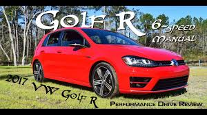 hd performance drive 2017 vw golf r 6 speed manual youtube