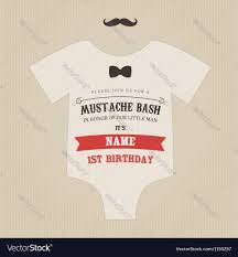little man birthday invitations funny vintage baby birthday invitation royalty free vector