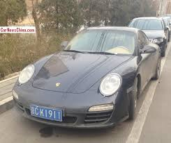 dusty china porsche 911 is dusty with a license in china carnewschina