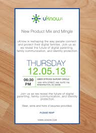 Sample Invitation Card For An Event You Are Invited To Uknow U0027s New Product Mix And Mingle Event