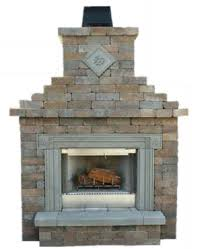 Outdoor Fieldstone Fireplace - cambridge outdoor living fireplace kits