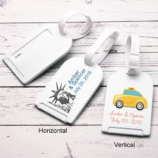 wedding tags for favors new york theme personalized luggage tag favor theme