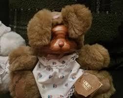 wooden faced teddy bears robert raikes etsy