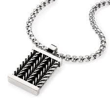 dog tag pendant necklace images Men 39 s stainless steel dog tag pendant necklace with chain inlay jpg