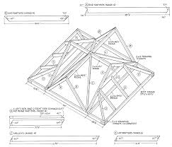 roofing truss gable rafter length table shed roof framing