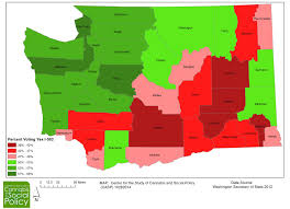 Washington State County Map by Obstructive And Facilitative County Environments With Respect To I