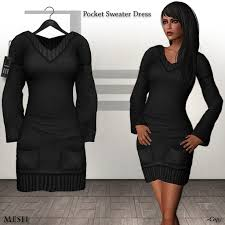 second life marketplace de designs pocket sweater dress black