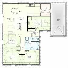 plan de maison de plain pied avec 4 chambres plan maison plain pied en l 4 chambres 1 304777 23 lzzy co